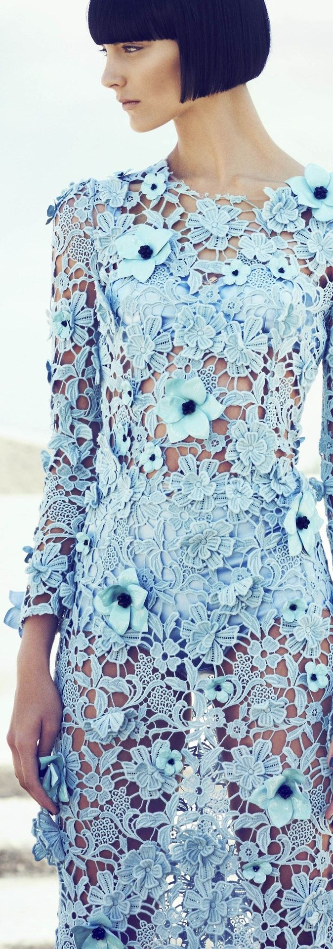 Authentic Style light blue lace dress