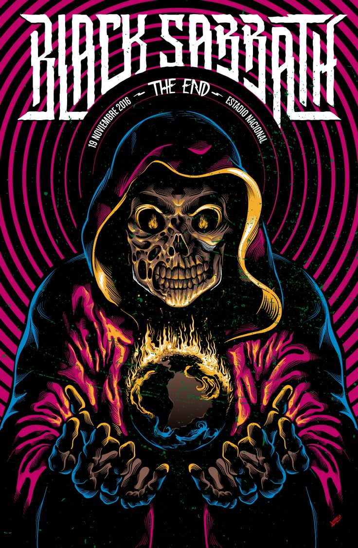 "Black Sabbath ""The End"" Tour Poster on Behance"