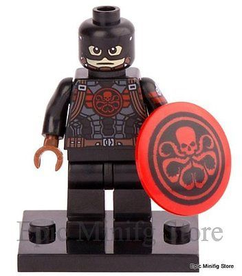 #Custom captain hydra #minifigure marvel #superhero fits with lego pg 052 uk sell,  View more on the LINK: 	http://www.zeppy.io/product/gb/2/222175773001/