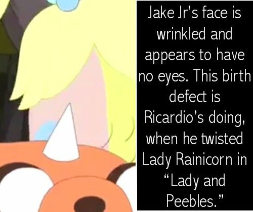 that is a good reason why she doesn't have any eyes i thought she was ugly but since i saw this i felt really stupid for hating her i realized she was born special so don't hate! (adventure time theories)