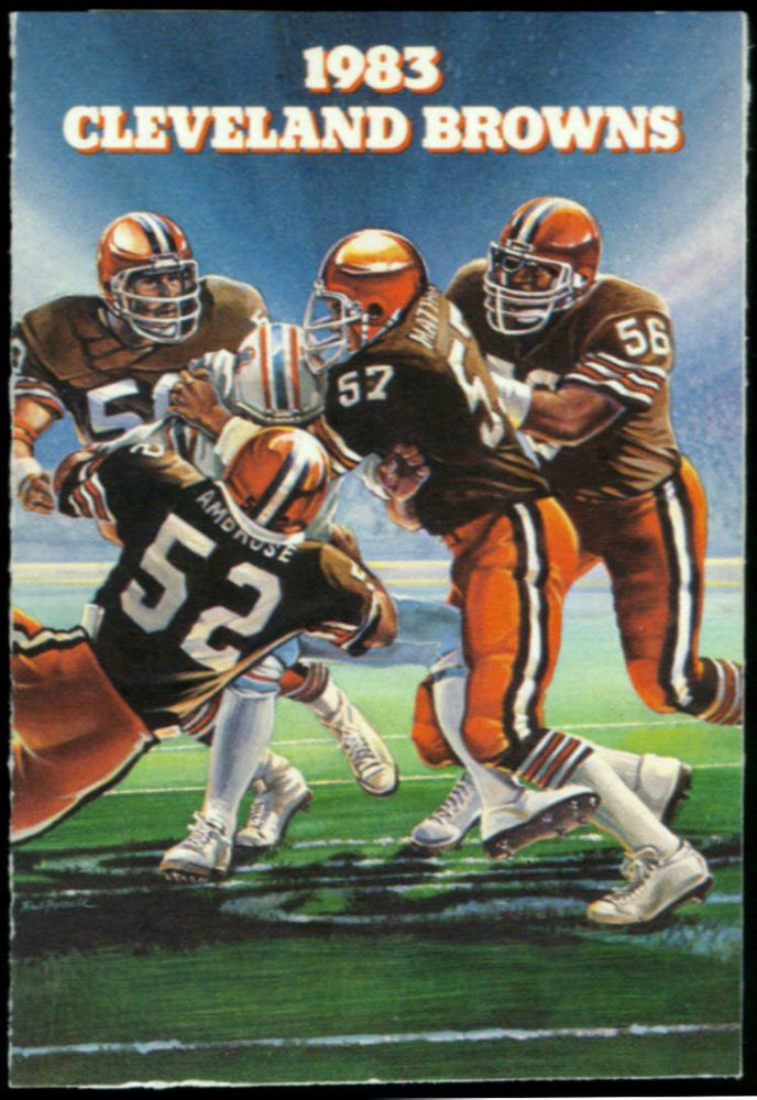 1983 CLEVELAND BROWNS GIRVES BROWN DERBY FOOTBALL POCKET SCHEDULE FREE SHIPPING #SCHEDULE