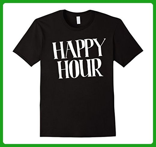 Mens Dicky Ticker Happy Hour T-shirt Beer O'clock! XL Black - Food and drink shirts (*Amazon Partner-Link)