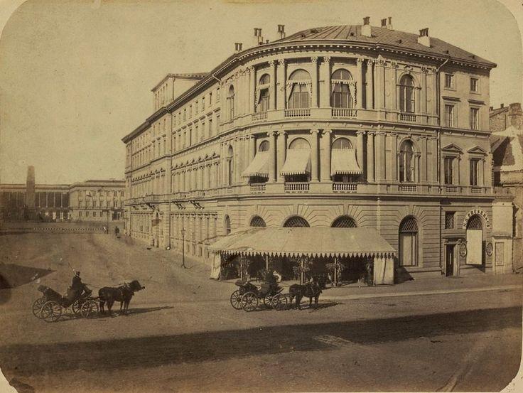 Mamy dla Was prawdziwą perełkę. Nieznane zdjęcia Warszawy z lat 1870-tych! Cudo! Hotel Europejski 1878