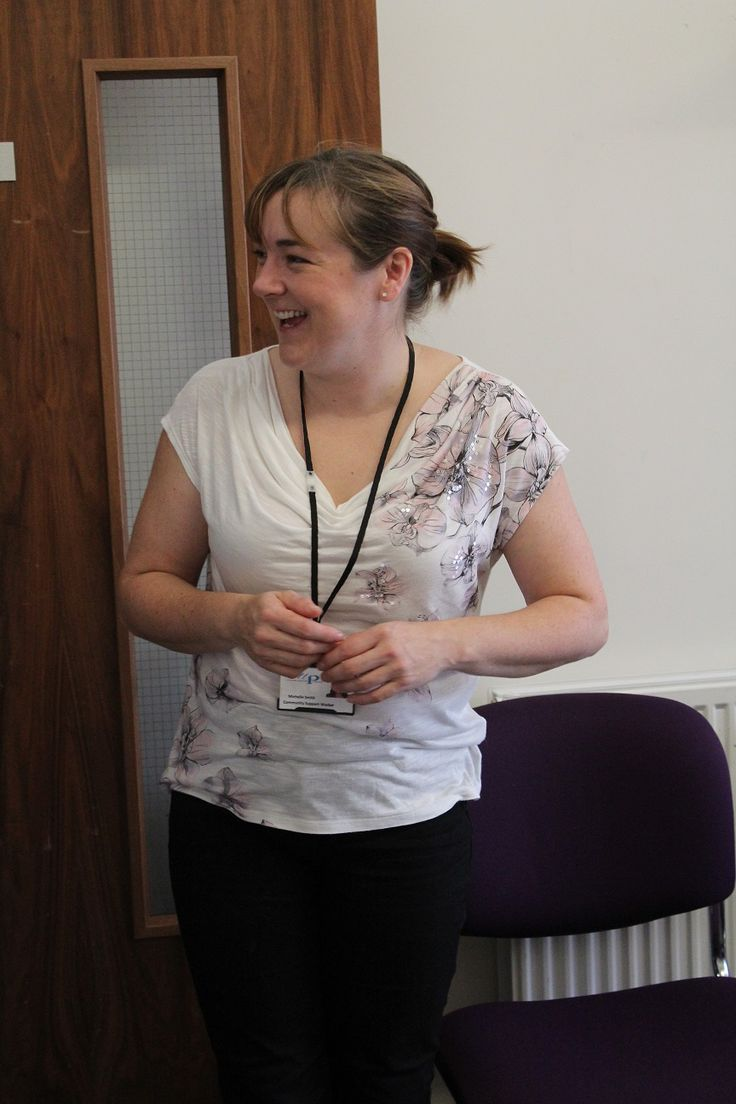 Michelle at Evolve's Open Day
