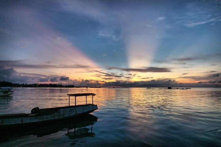 ray light on Karimun, INDONESIA