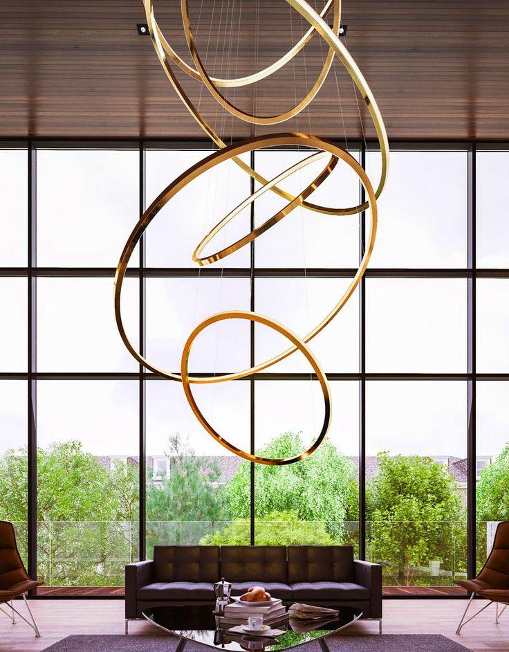 Quelli del brand londinese Cameron Design House sono lampadari moderni e minimalisti basati sulla forma perfetta del cerchio