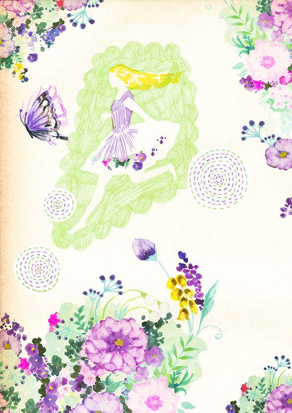 #animal #frame #枠 #動物 #広告 #花 #flower #デザイン #お洒落 #可愛い #線画 #コラージュ #collage #illustration #kanakobayashi #art #illust