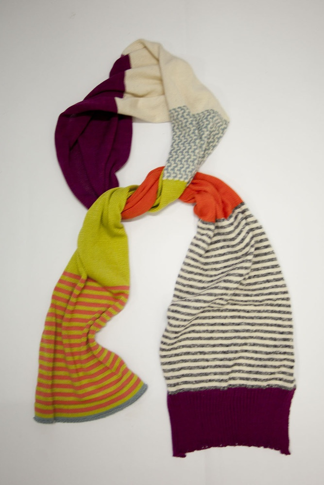 make a scarf out of old sweaters :)