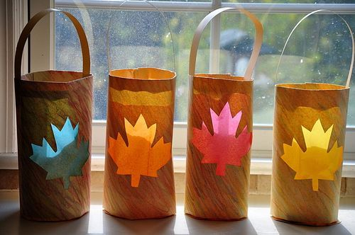 Maple leaf lanterns...great for Canada Day or a fall celebration