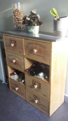 44 best images about Caisse de vin on Pinterest Wine crate table