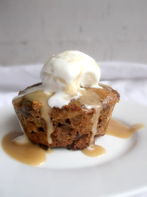 Sticky Date Puddings with Toffee Sauce