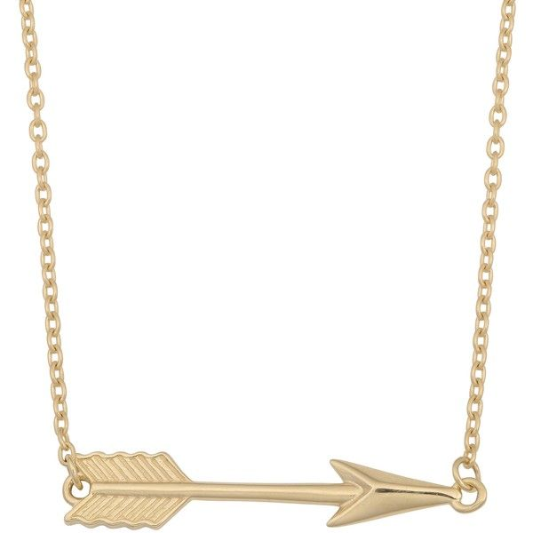 Fremada 10k Yellow Gold High Polish Arrow Necklace (£120) ❤ liked on Polyvore featuring jewelry, necklaces, gold, gold jewellery, polish jewelry, thin chain necklace, thin gold chain necklace and polishing gold jewelry