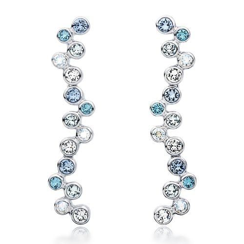 Fidelity Blue Bubble Drop Earrings with Swarovski® Crystals