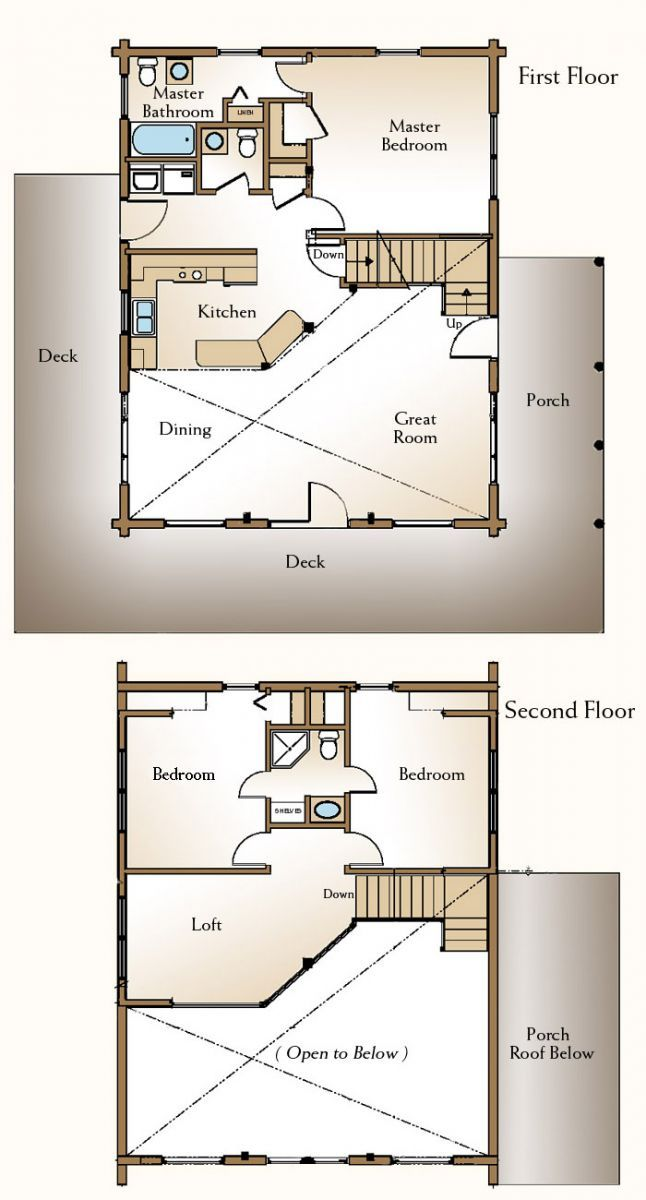 Cabin Floor Plan With Loft Plans Free Download | Cabin floor plans ...