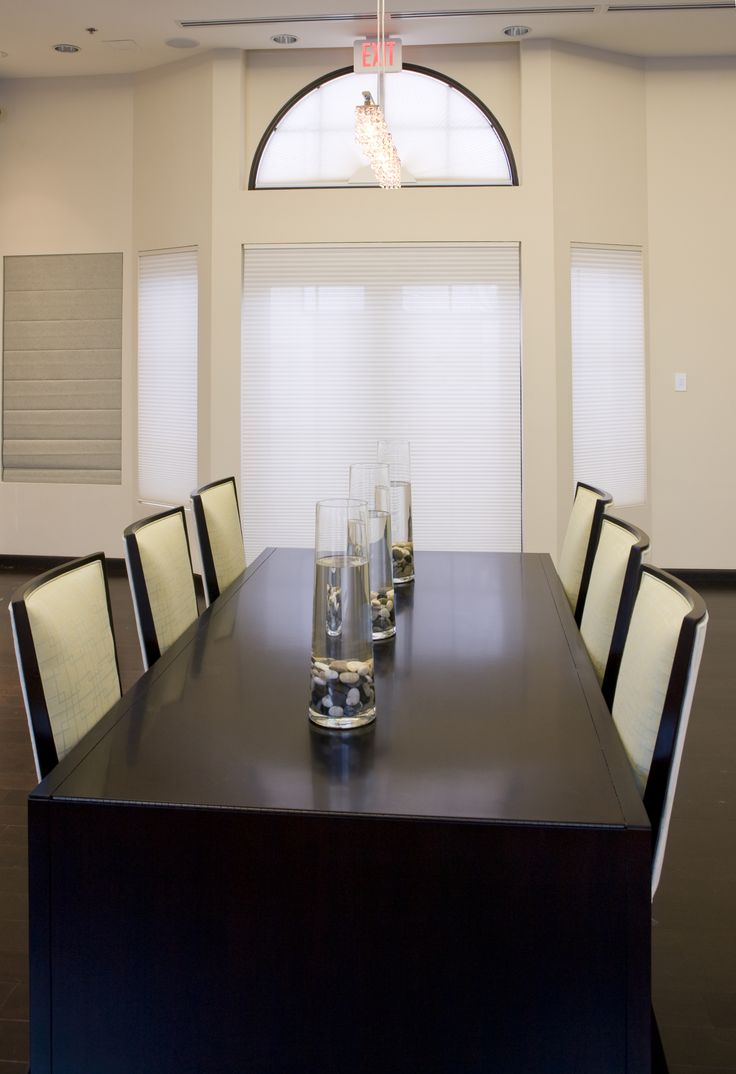 Hospitality and hotel window treatments sheer shades solar screen - Somfy Motorized Roller Shades In Dining Room Roller Shadeswindow Coveringsrollersdining Rooms