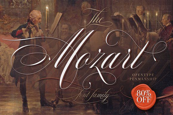 The Mozart Script by Blessed Print on @creativemarket