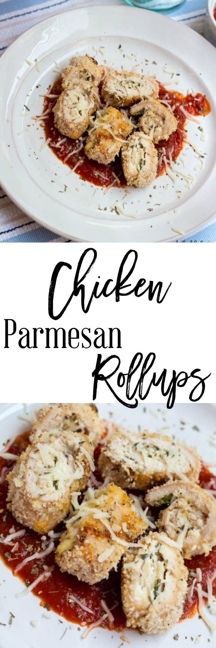 Chicken Parmesan Rollups - A twist on an Italian classic meal. And these are healthy too. Only 7 SmartPoints per serving on Weight Watchers