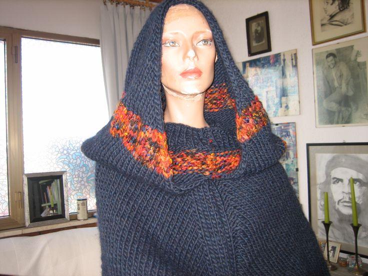 poncio in lana fatto a mano