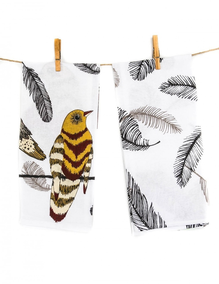 Pigment - Danica Studio Perch Pair of Tea Towels  (http://www.shoppigment.com/danica-studio-perch-pair-of-tea-towels/)