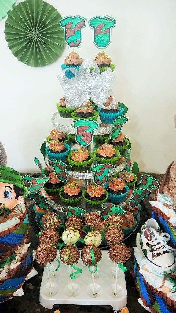 Baby shower cup cakes By: ate rose