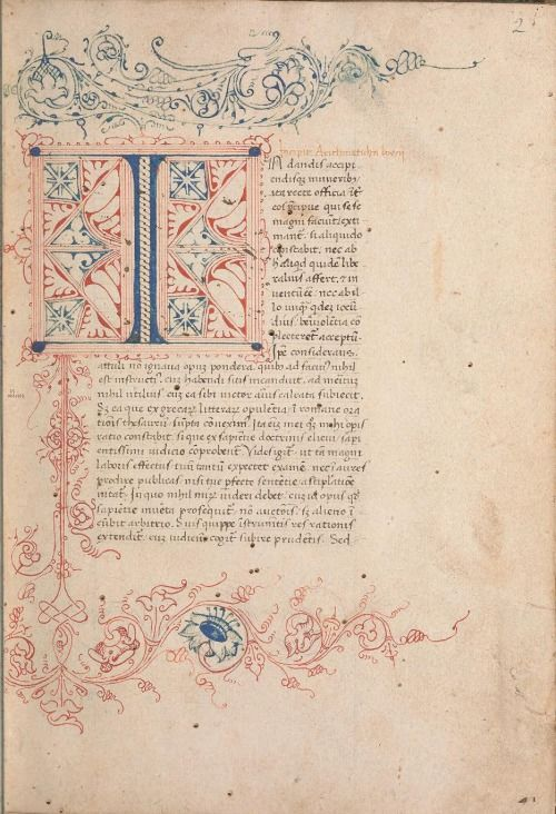 smithsonianlibraries:  Wondering if this doodle is as old as the book it's doodled in? If so, it's pushing 500 years…  The doodle is found in the back of a handwritten manuscript copy of the complete text of Boethius' De institutione arithmetica from the 15th century.