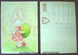 Minna Immonen Easter card: bunny / Minna Immsen Pääsiäiskortti: pupu