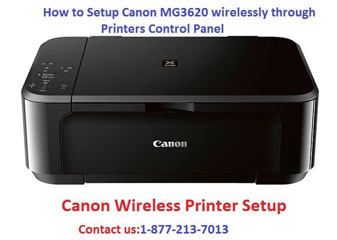 How To Setup Canon Mg3620 Wirelessly Through Printers Control Panel Wireless Printer Printer Setup