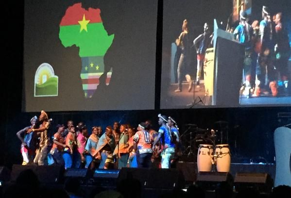 South Africans welcome attendees of the BWA's 2015 World Congress in Durban using the sound of its people and nature. Photo by Helle Liht.