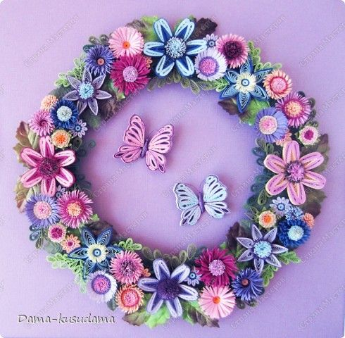 Handicraft product Wreath 2012 Paper Quilling Photo 1