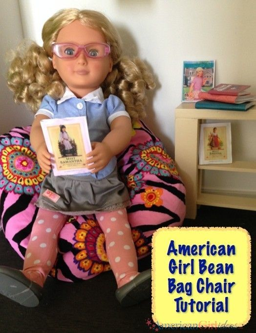 "American Girl Doll Bean Bag Chair. Super cute! If u have an American girl or any 18"" doll or someone u know has one this is perfect!"