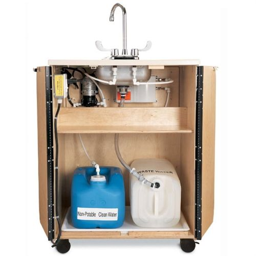 Portable Sink With Faucet And Hot Water Heater With Pump 7