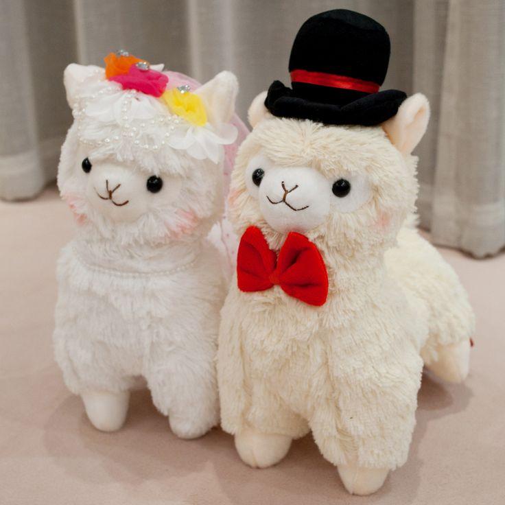 Alpacasso wedding horse lovers plush alpaca toy doll wedding gift US $25.50