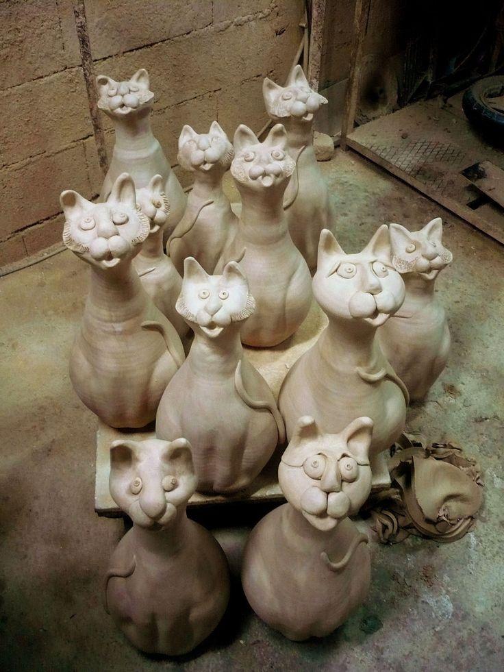 Clay cats ze zijn LEUK!!!!
