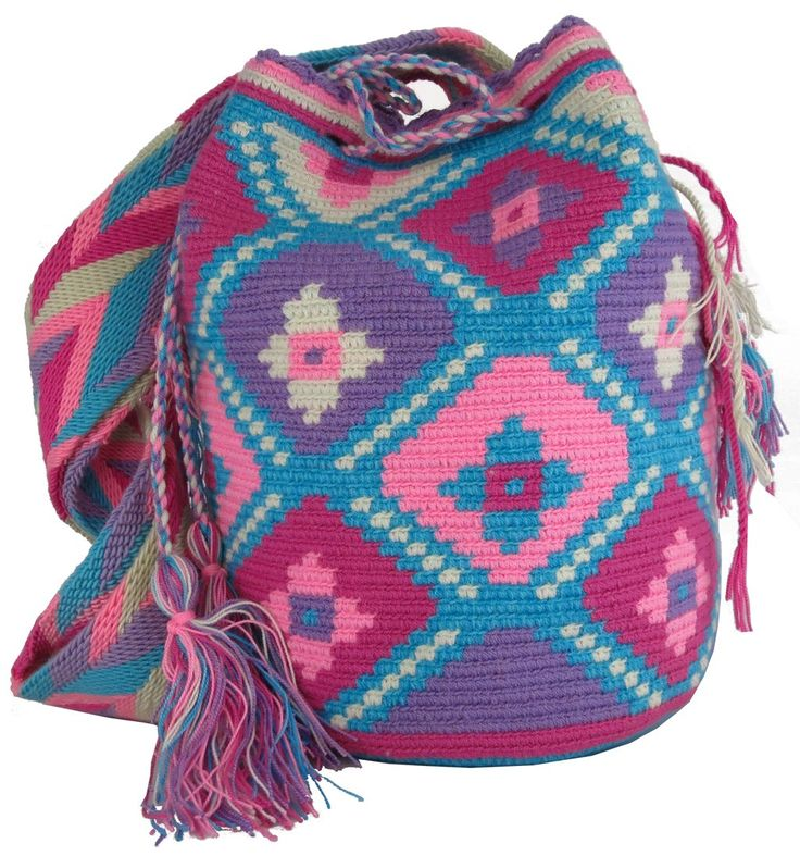 Large Wayuu Mochila Bag  by ACROSS THE PUDDLE
