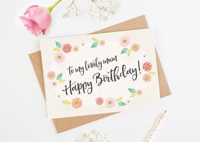 1001 Ideen Wie Sie Eine Geburtstagskarte Basteln Diy Ideen