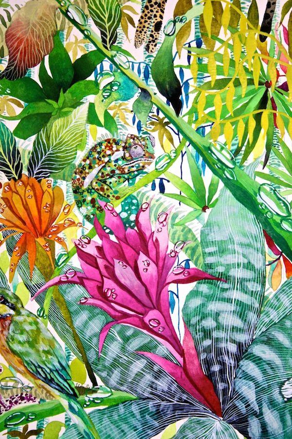 Jungle Imaginings close up IV - Kate Morgan - Artist