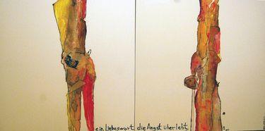 "Saatchi Art Artist Jaume Muñoz; Painting, ""Adam und Eva"" #art"