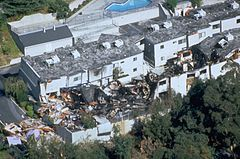 "The Northridge earthquake was an earthquake that occurred on January 17, 1994 in Reseda, a neighborhood in Los Angeles, California, lasting for about 10–20 seconds. The earthquake had a ""strong"" moment magnitude of 6.7, but the ground acceleration was one of the highest ever instrumentally recorded in an urban area in North America.The death toll came to a total of 57 people, and there were over 8,700 injured."