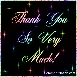 Thank You Animation Glitter | Thank You Very Much Rainbow Stars