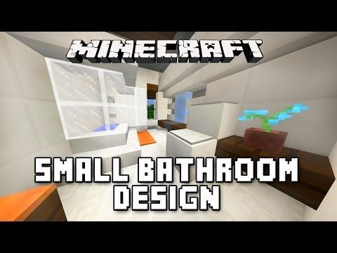 Bathroom Design Minecraft minecraft tutorial: how to build a modern house ep.10 (small