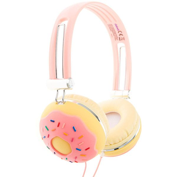 Sprinkle Donut Headphones (1,410 DOP) ❤ liked on Polyvore featuring accessories and tech accessories