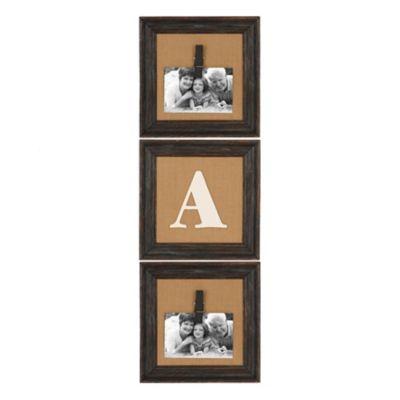 Have..Burlap Monogram Picture Frames, Set of 3 | Kirklands