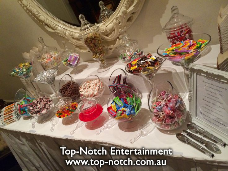 This lolly buffet was at Quat Quatta, Ripponlea, Victoria.  www.top-notch.com.au  www.facebook.com/WeddingDJTopNotch