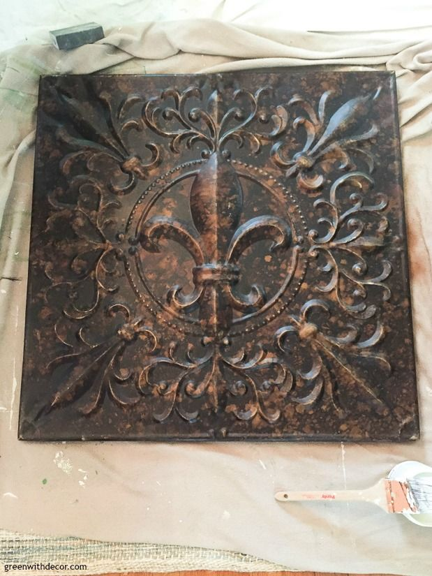 How To Paint Metal For A Distressed Look Diy Wall Decor Diy Wall Wall Art Tutorial