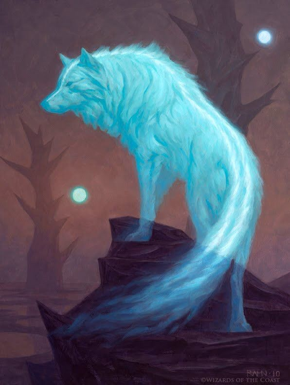 Ghost is a fierce spirit who speaks his mind to Dark. He's always been beside him and choose's to stay beside him. He loves tormenting other wolves and messing around.Me.