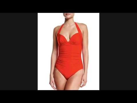 Discount JETS by Jessika Allen 50s Gathered One-Piece Swimsuit