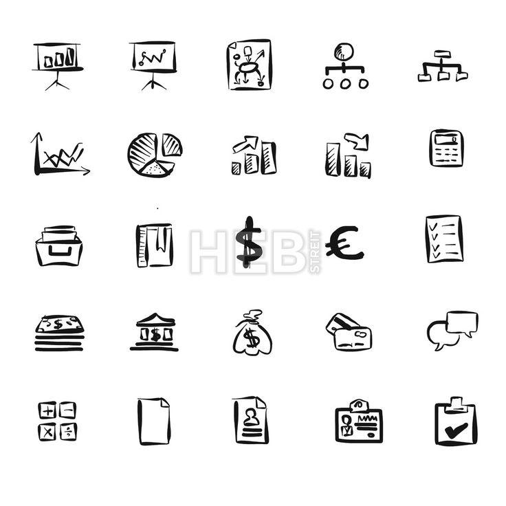 Business Symbol Vector Doodles by Hebstreits #stockimage #vector #design