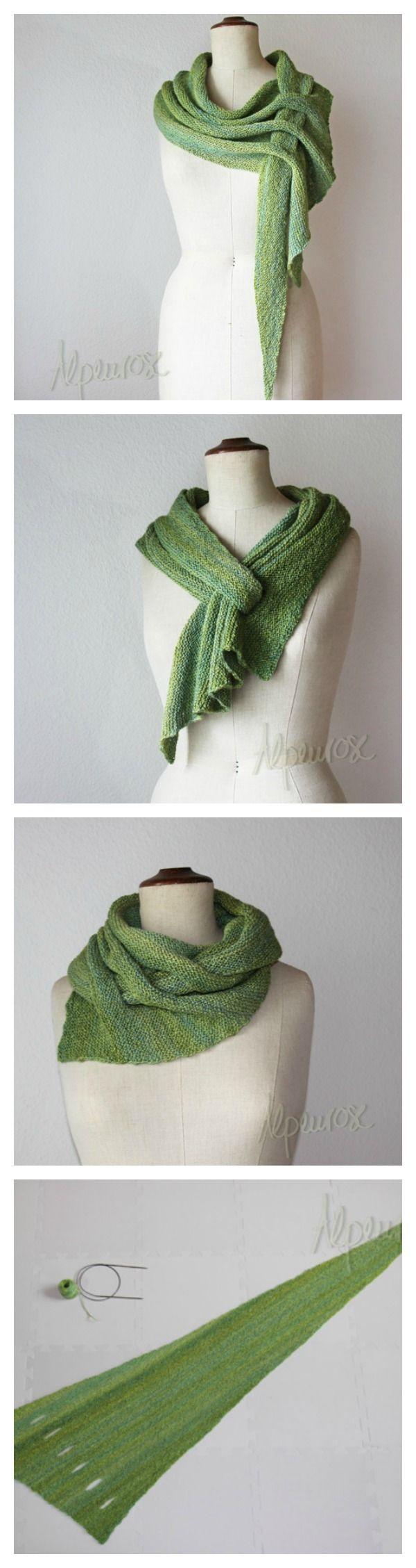 Arrow Caterpillar Scarf Free Knitting Pattern---10+ Keyhole Scarves and Shawl Knitting Patterns