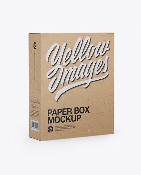 Download Kraft Box Mockup Half Side View In Box Mockups On Yellow Images Object Mockups Box Mockup Mockup Free Psd Free Psd Mockups Templates