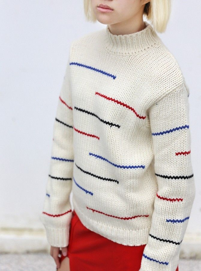Knitted marl wool sweater